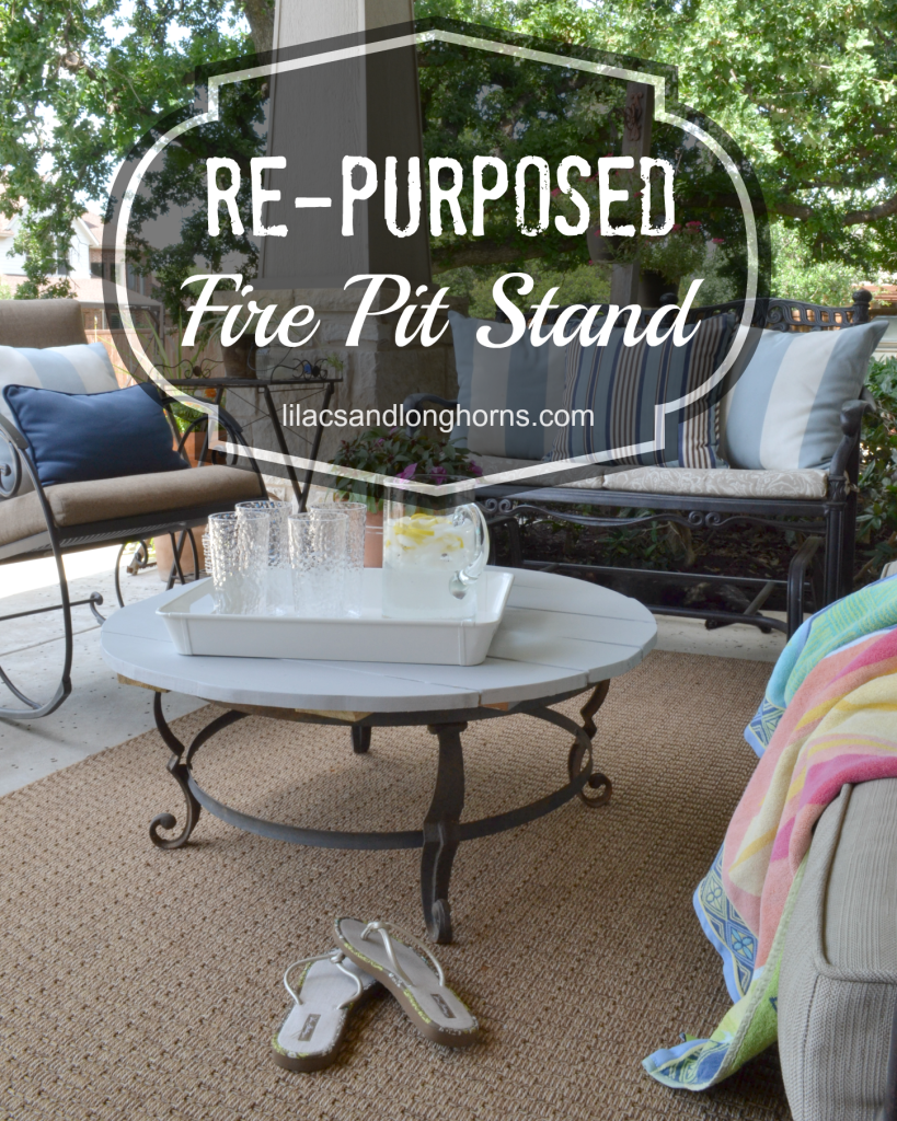 re purposed fire pit stand diy ideas fire pit stand outdoor rh pinterest com