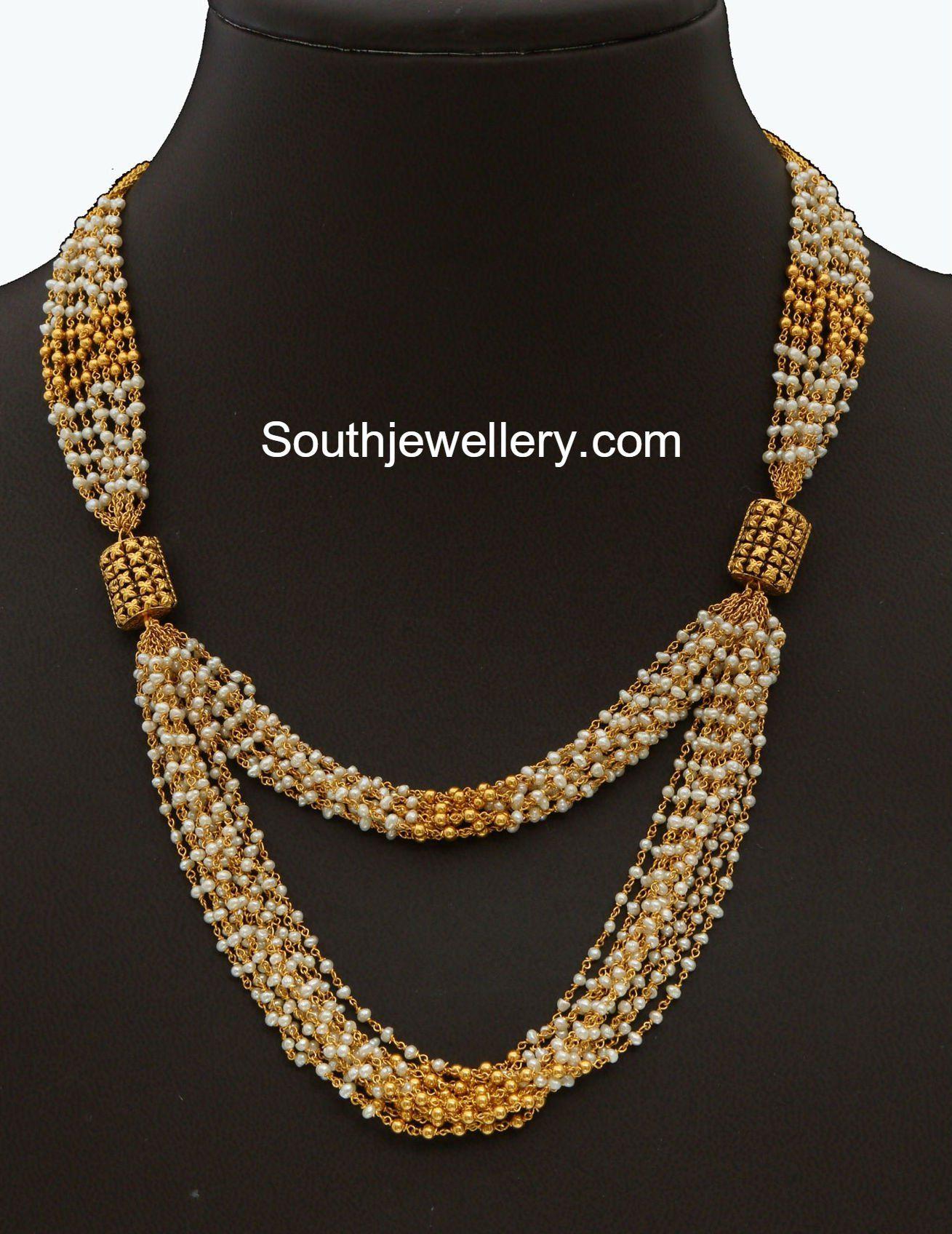 256802b83b3bc5 Light Weight Pearls Mala | jewelry in 2019 | Jewelry, Indian ...