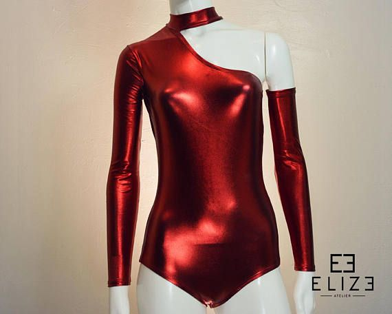 3f7f0cf4ed Zoya Turtle Neck leotard  Long Sleeve Leotard  Asymmetric Leotard  Metallic    Bodysuit  Women s Leotard  Dance Leotard  Gymnastics Leotard