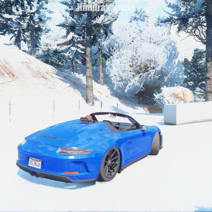 Chirstmas Special ! Supercars drifiting in snow Gta V