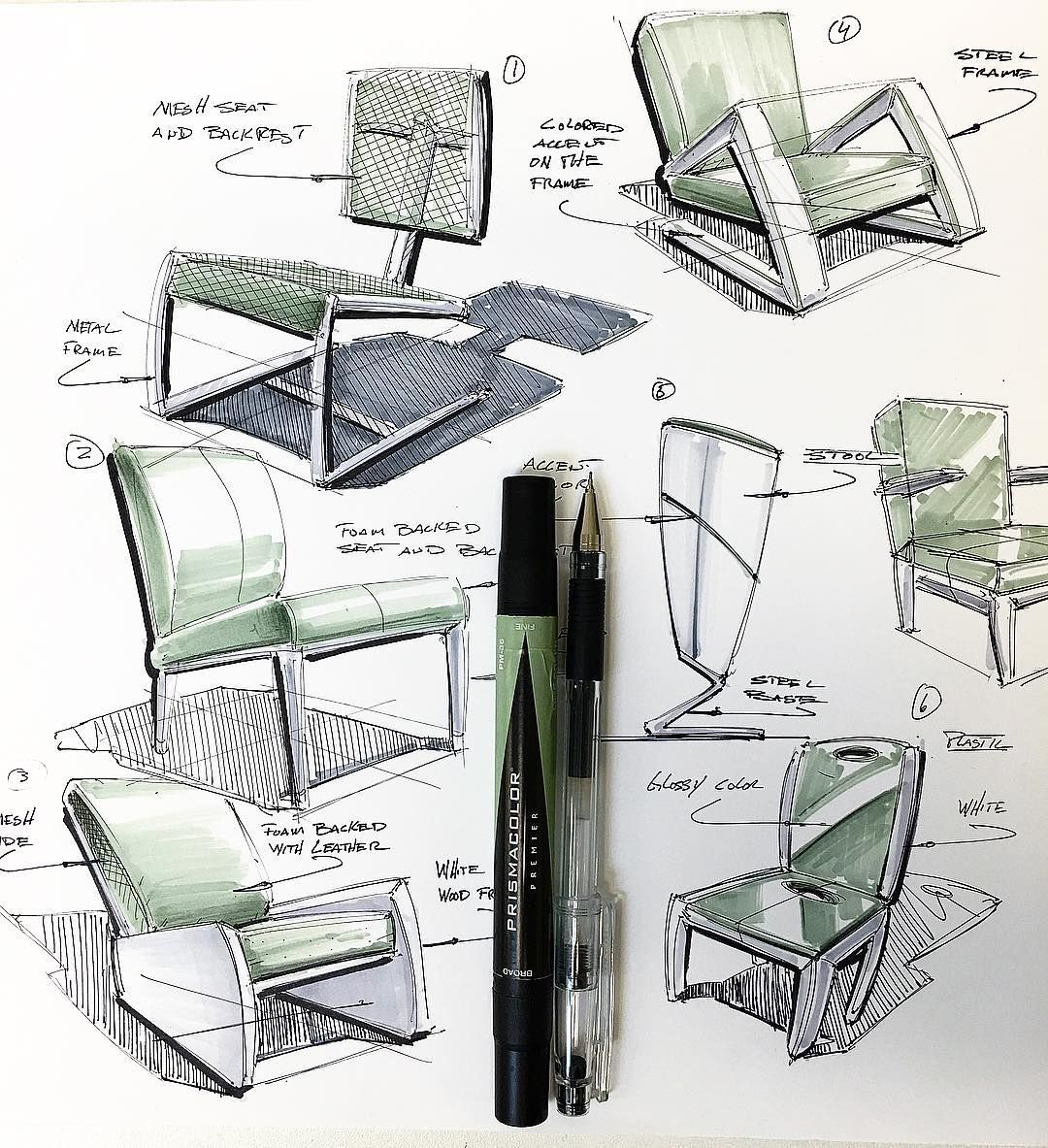 chair industrial design vibrating office massage joelbellid a quick markerdemo for my