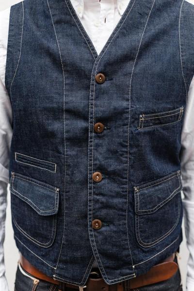 Scarti Lab Cotton Vest Indigo Raw 403 SW325 kaufen ✓ viele