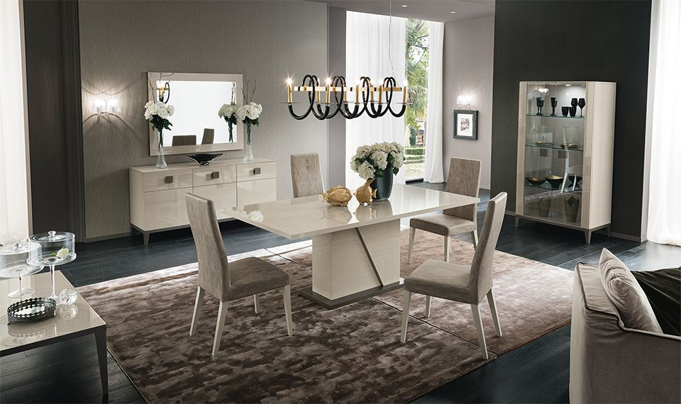 The Mont Blanc dining set with a gorgeous laquer finish by ALF
