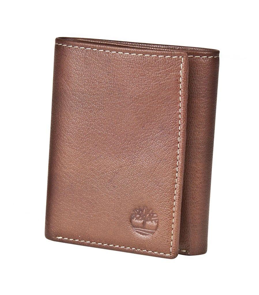 Timberland Brown Genuine Leather Colorado Trifold Wallet Genuine Leather Tan Wallet Wallet