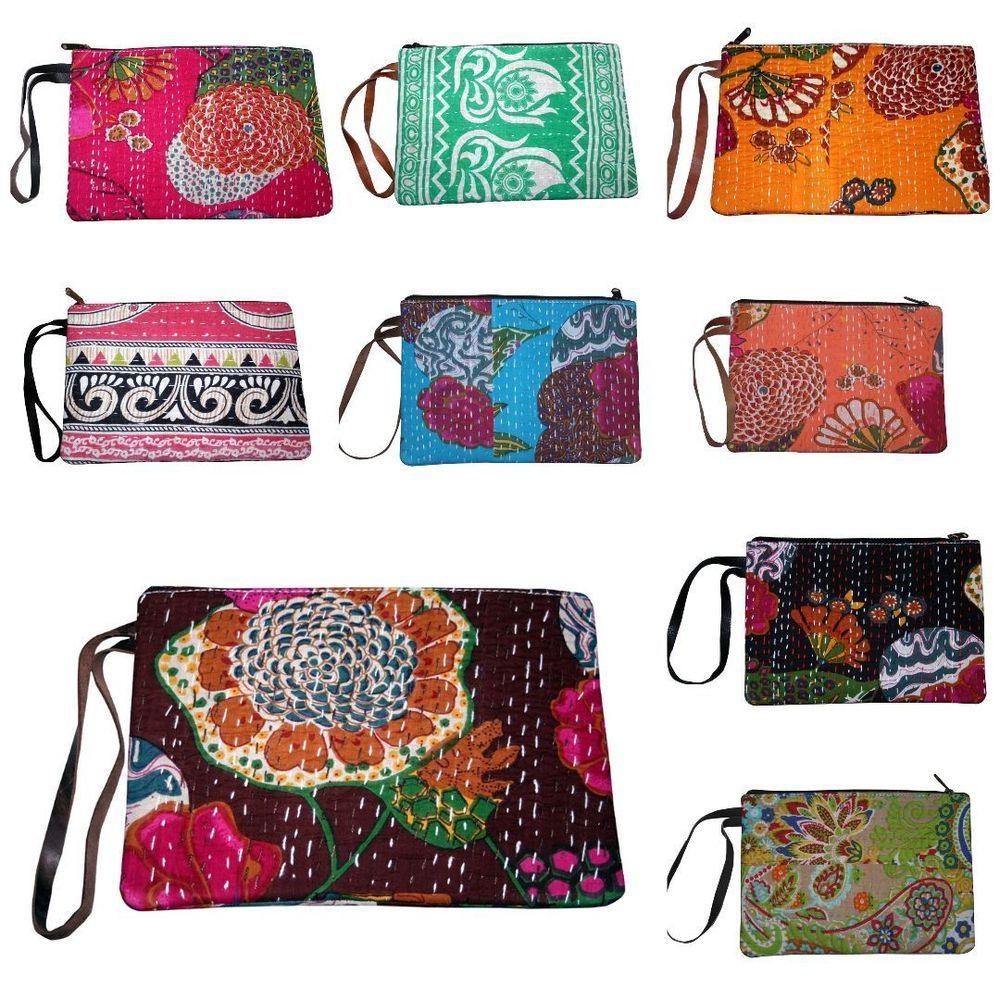 Wholesale Lot 10 Pcs Women S Evening Clutch Bag Handbag Clutch Shopping Bag Handmade Clutch Clutch Bag Bags Cotton Handbag