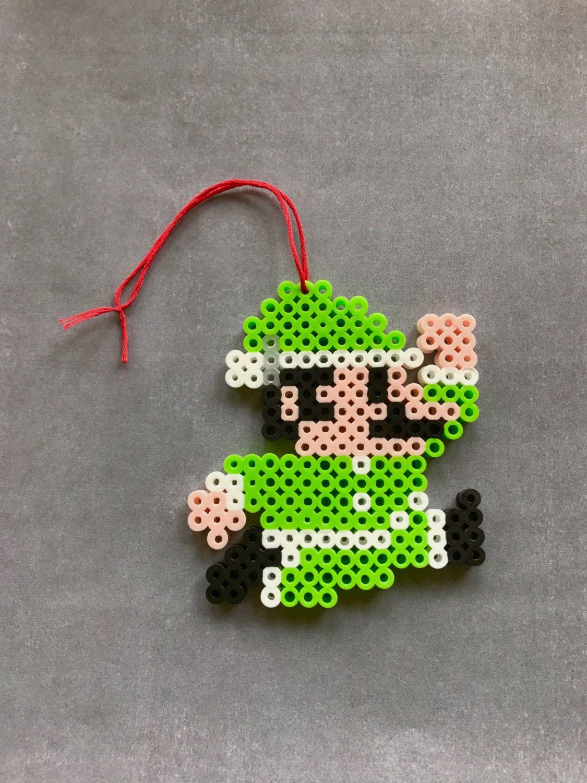 Super Mario Luigi Perler Bead Ornament - Super Mario, Luigi, Perler ...