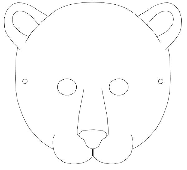 black and white cheetah mask template - Google Search | Wild Animals ...