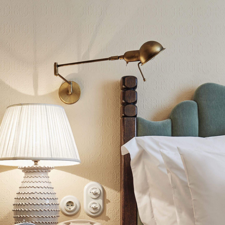 Reade Wall Light Brushed Brass Soho Home Wall Lights Bedside Wall Lights Wall Mounted Reading Lights