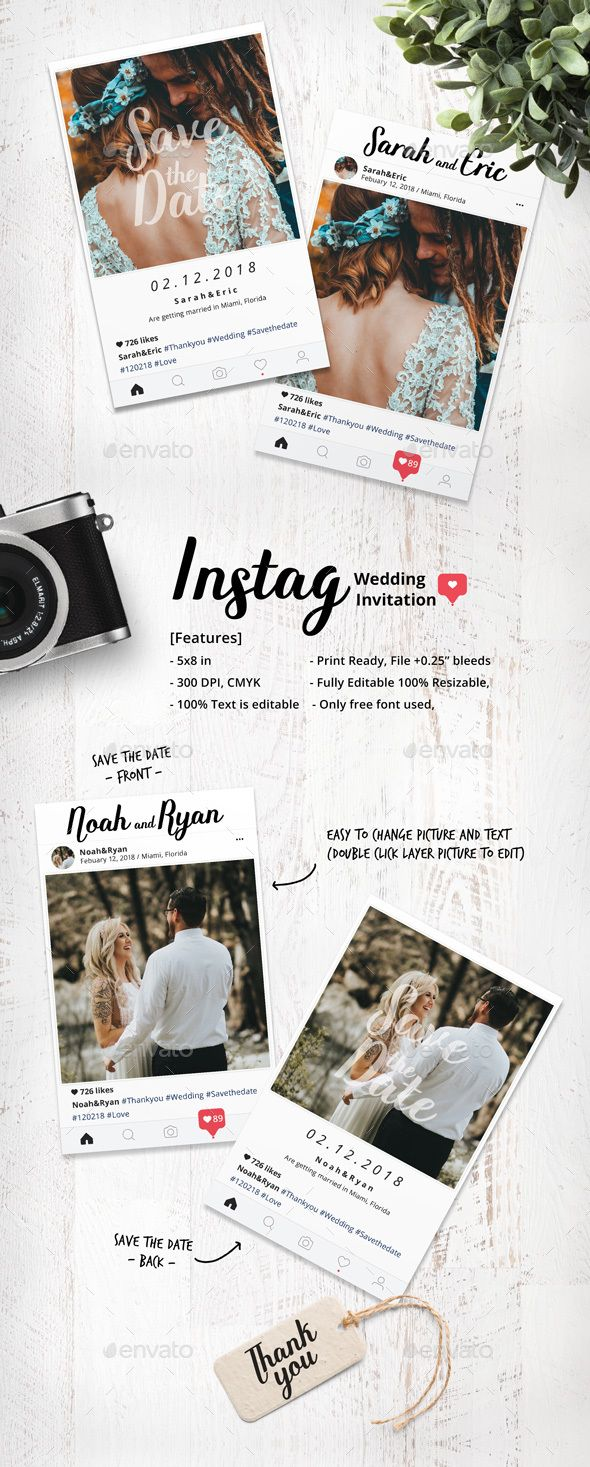 Instag Wedding Invitation Template Font