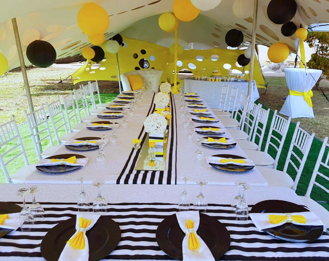 Black White Yellow 50th Birthday Party Decor Shonga Events
