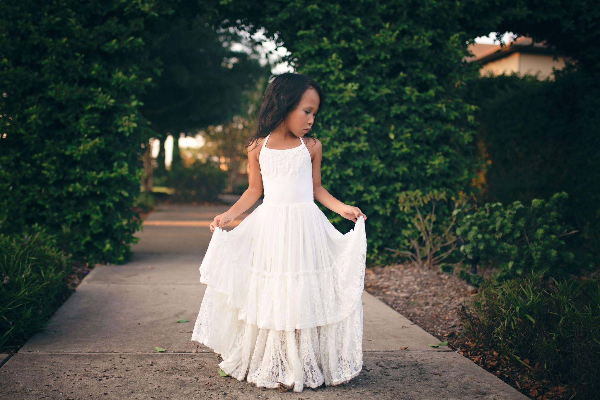 Willow maxi dress in white white flower girl dresses pinterest
