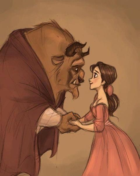 art, beautiful, beauty and the beast, disney - inspiring picture on Favim.com