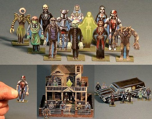 jaw dropping halloween paper models that you can build yourself