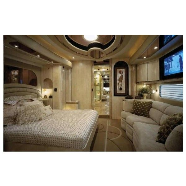 Luxury Caravans Interiors Liked On Polyvore Featuring House Rooms Casa Tour Bus