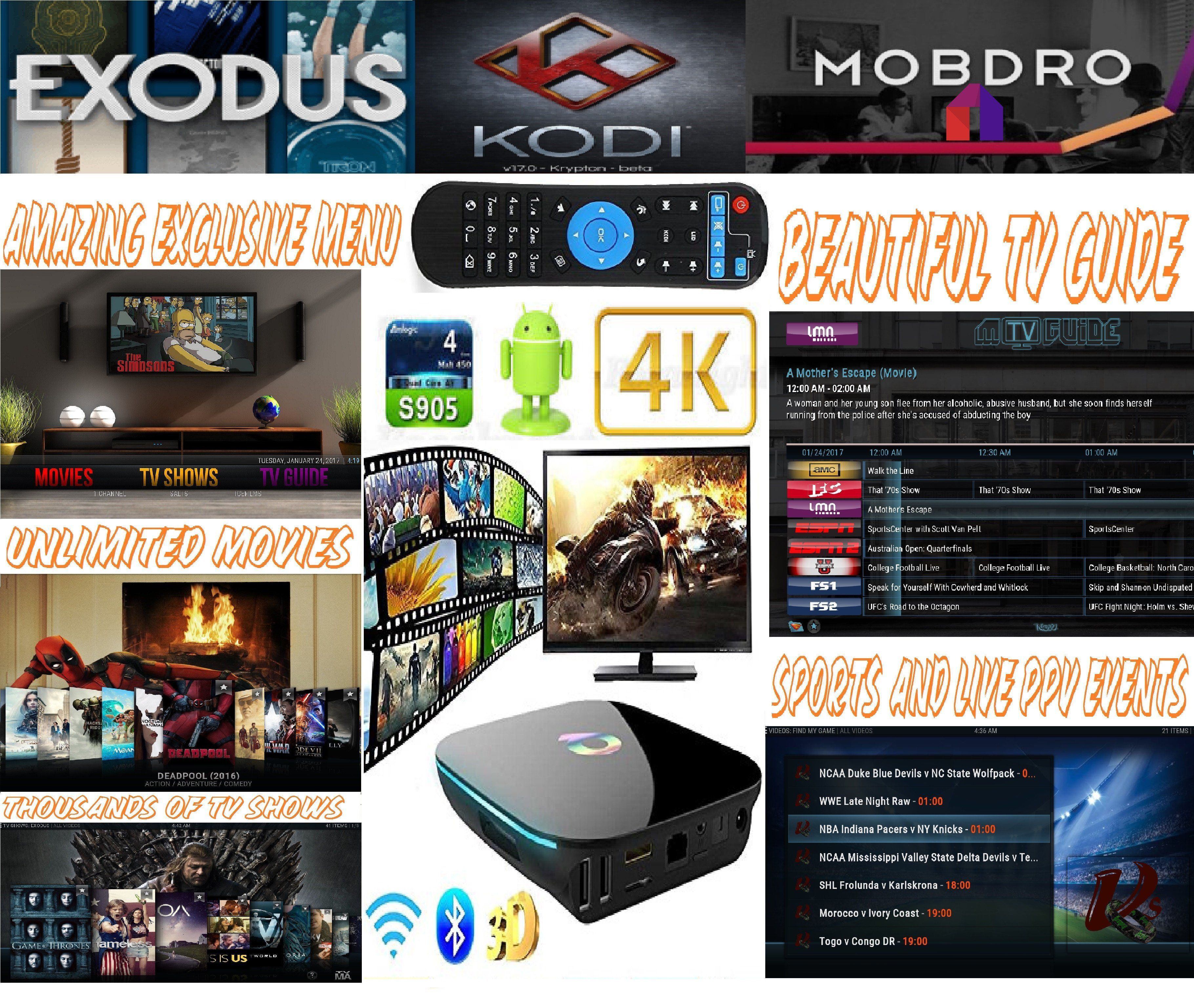 Q BOX S905 4K Android 6.0 TV BOX Android box, Movies to