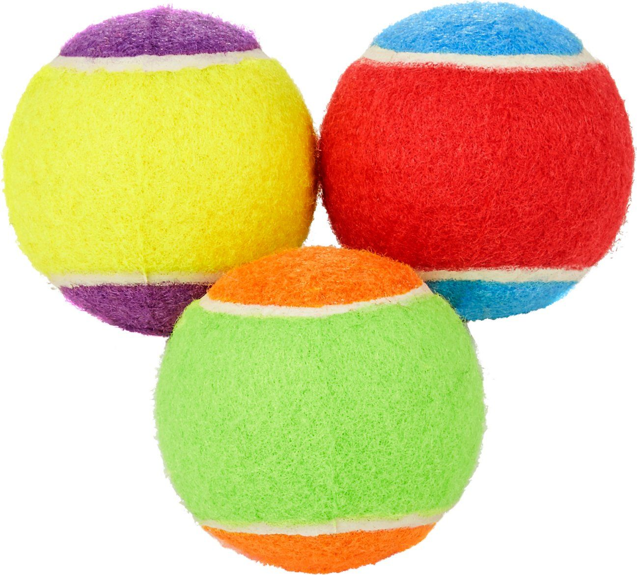 Frisco Fetch Squeaking Colorful Tennis Ball Dog Toy 3 Pack