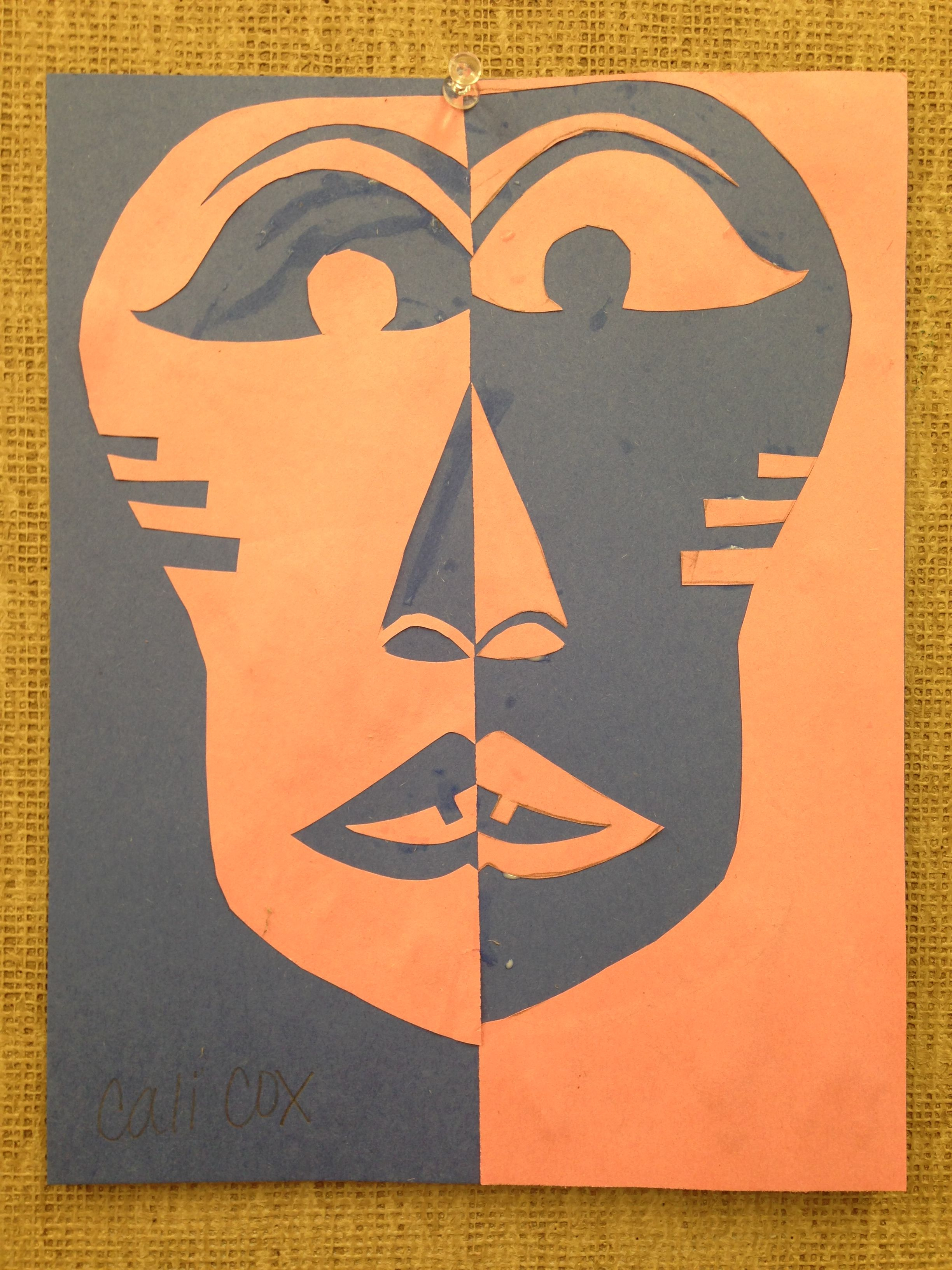 Symmetrical African Mask And Lesson Plan