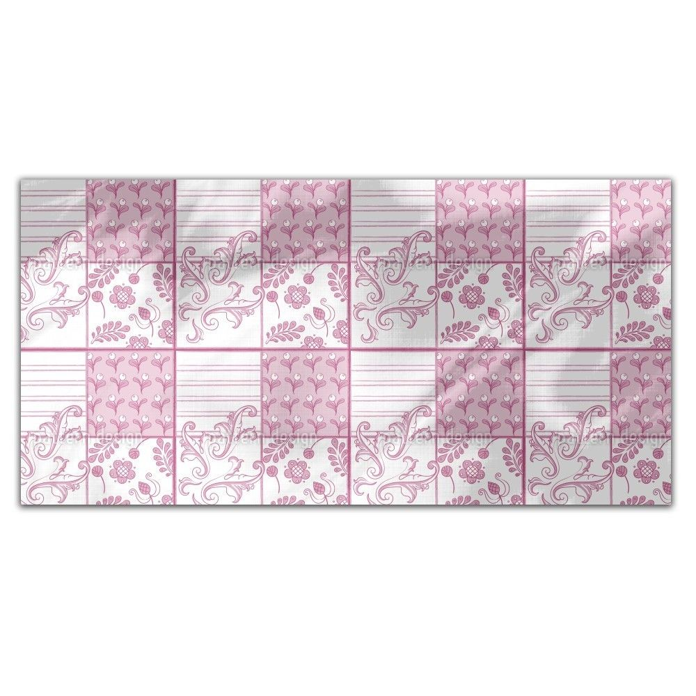 Uneekee Painted Art Pink Rectangle Tablecloth