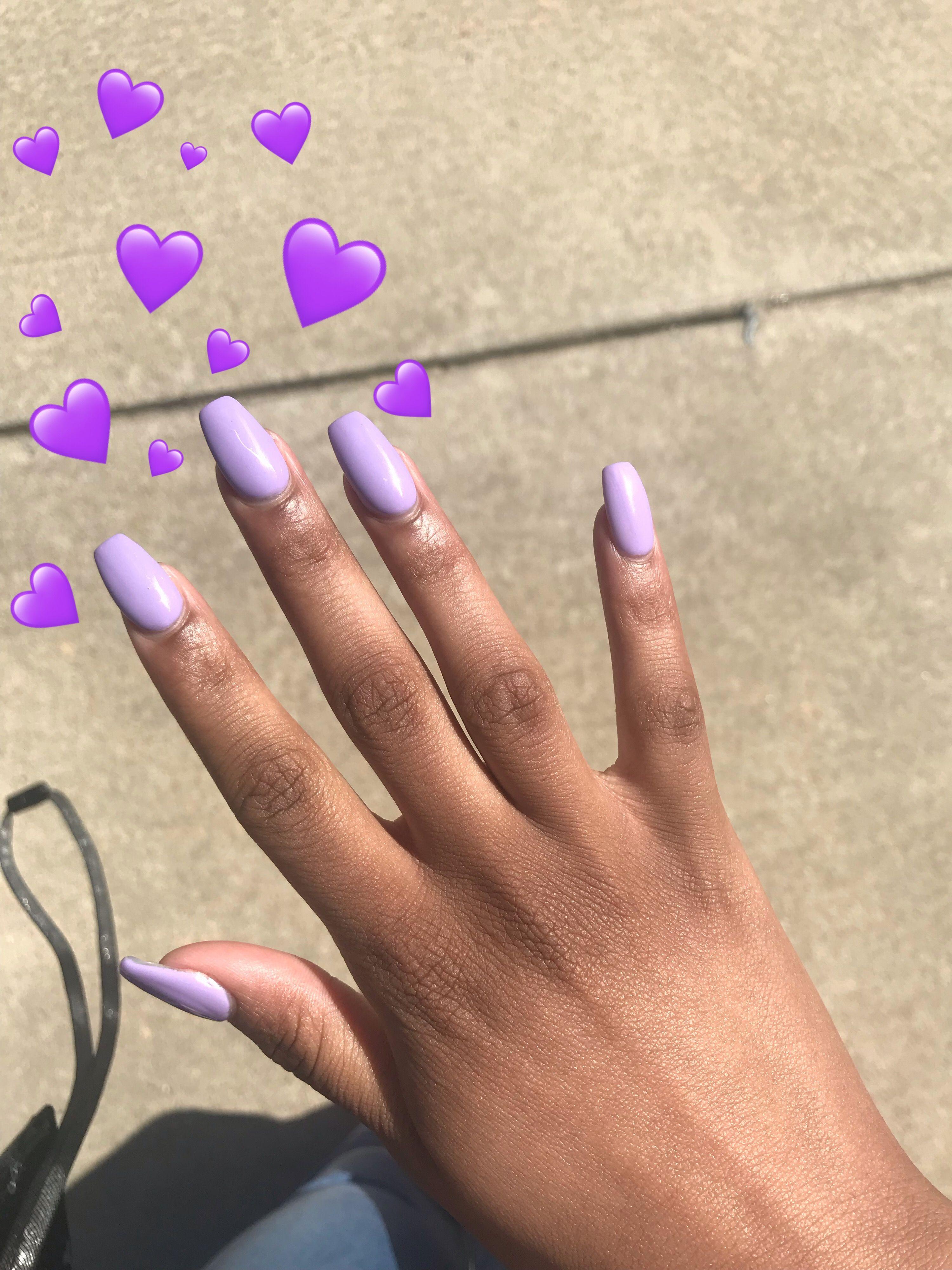 Nails Purple Emoji Blackgirlnails Nails Black Girl Purple
