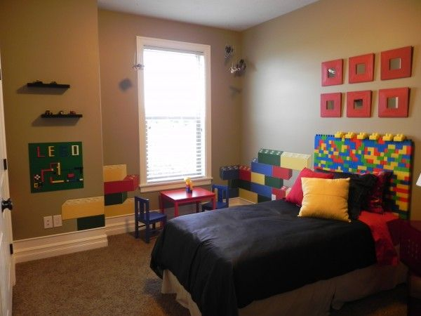 Room 2 Build Bedroom Kids Lego: Lego Decorating Bedroom Ideas
