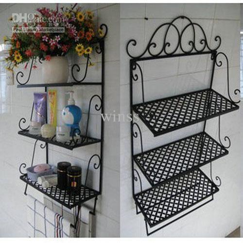 glamorous wrought iron kitchen wall shelves | wrought iron walll mounted shelves | Best Shelf Iron ...