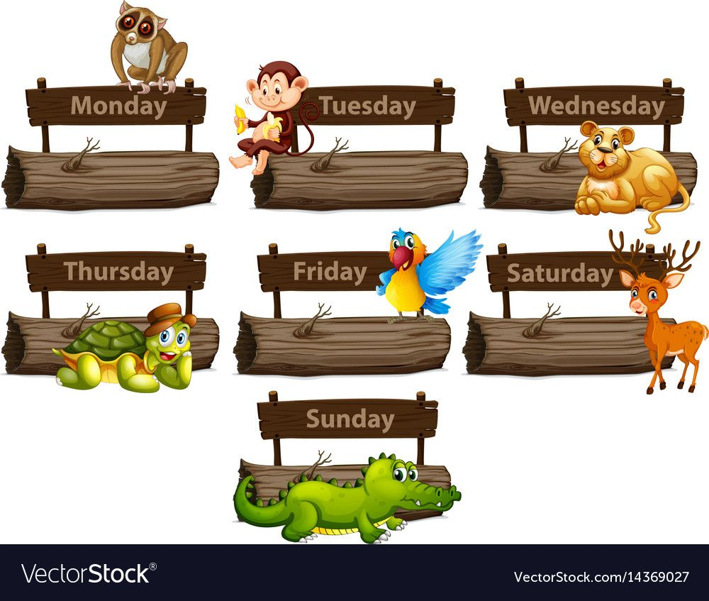 Days Of The Week With Many Animals Illustration Download A Free Preview Or High Quality Adobe Illustra In 2021 Butterfly Art Drawing Animals Preschool Classroom Decor
