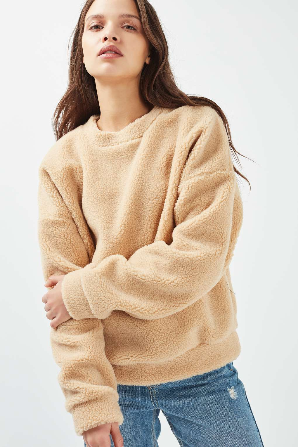 7d824c1a **Teddy Faux Fur Sweater by Glamorous - Knitwear - Clothing - Topshop Europe