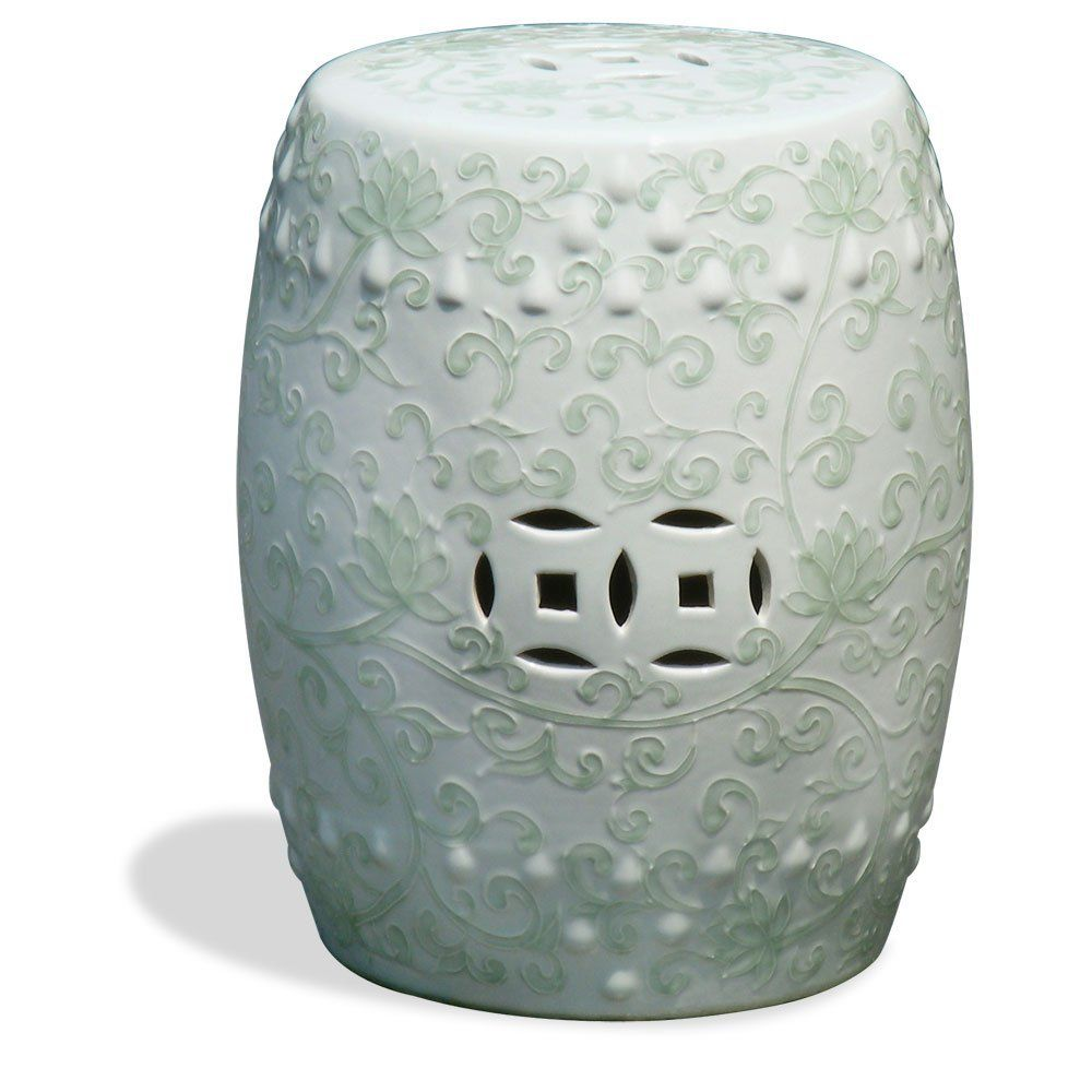 living garden stool abbyson ceramic outdoor dp in talia stools white com amazon
