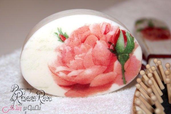 دکوپاژ روی صابون , تزیین صابون عروس | آموزش دکوپاژ | Pinterest