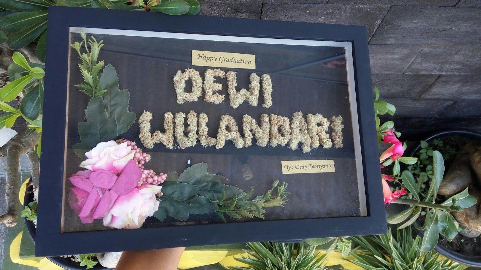 Bingkai Ucapan Dari Bunga Edelweis Custom Spesial