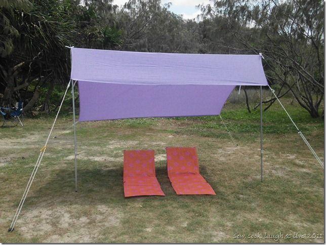 DIY Sombrilla/beach canopy