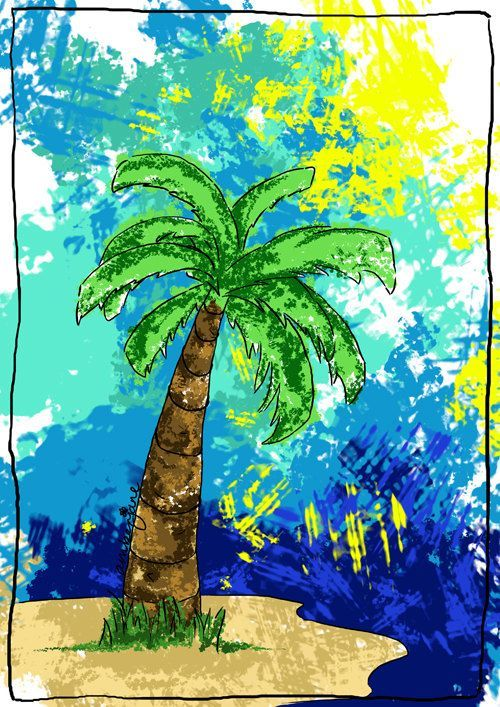 This item is unavailable This item is unavailable Brealin Wallace ctoyota88 Phone Backgrounds palm tree digital print beach summer giftbold 038 brightwall art stylised pr...