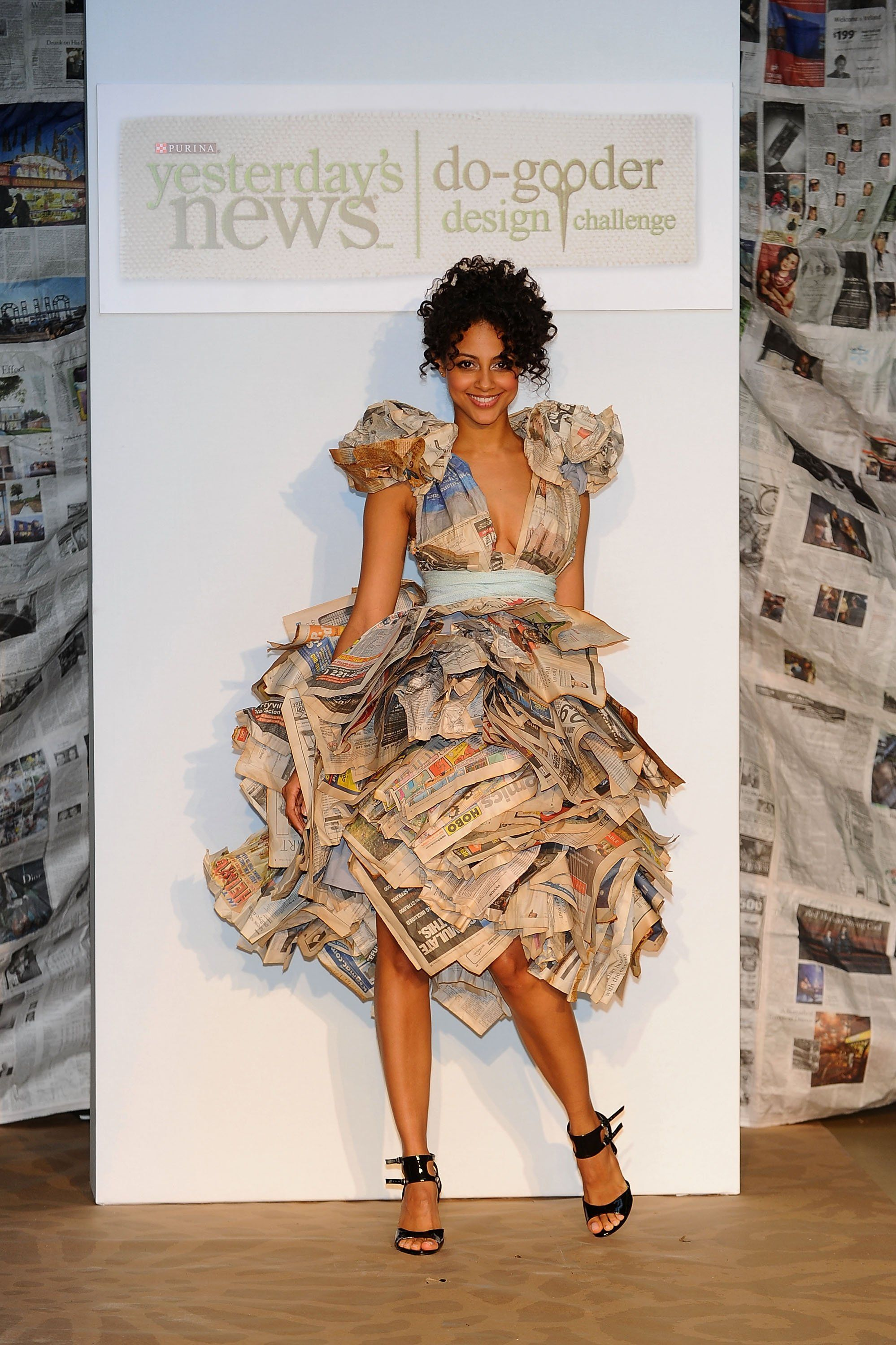Eco-Friendly Dresses Made Out of . . . Newspaper! | Paper ...