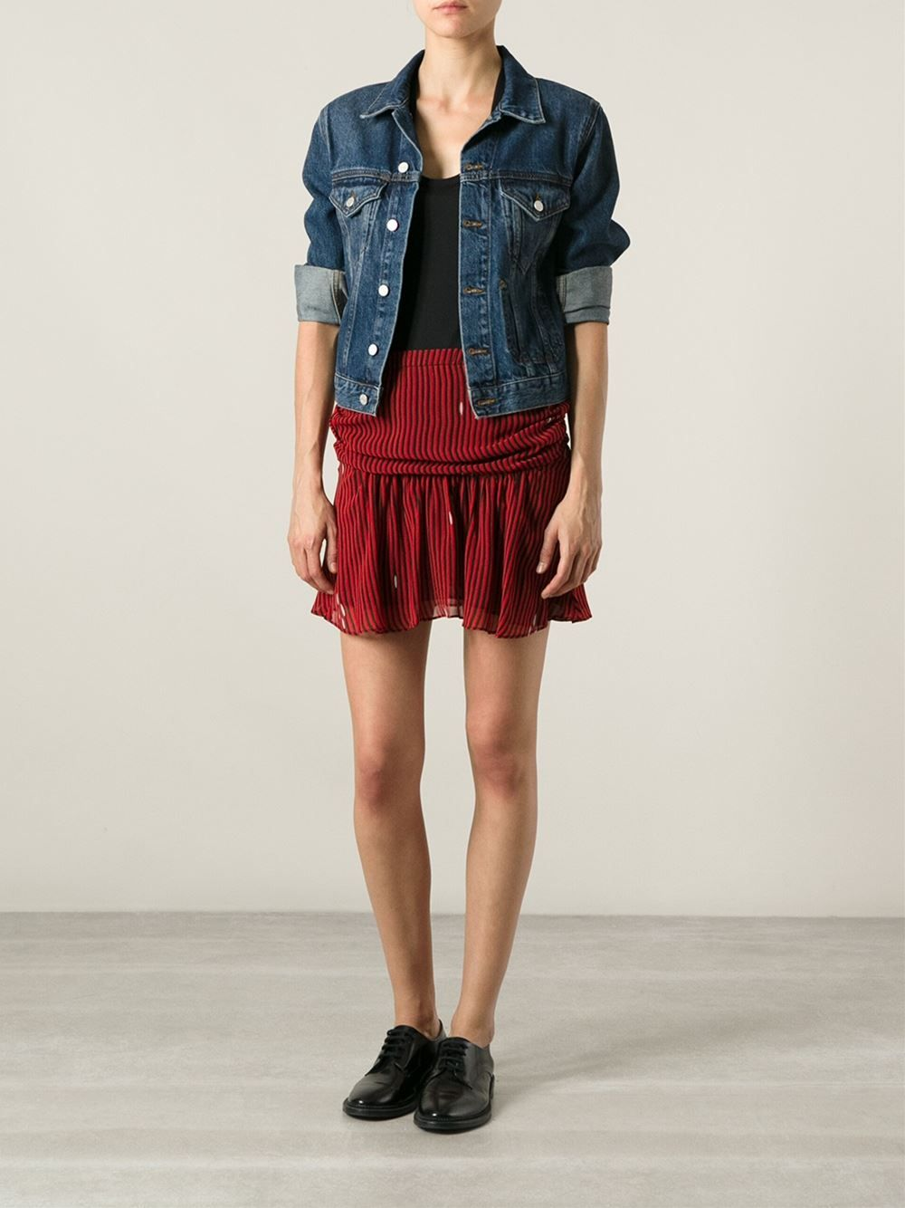 35a43af3bee5 Isabel Marant Étoile Striped Short Skirt - Eraldo - Farfetch.com ...