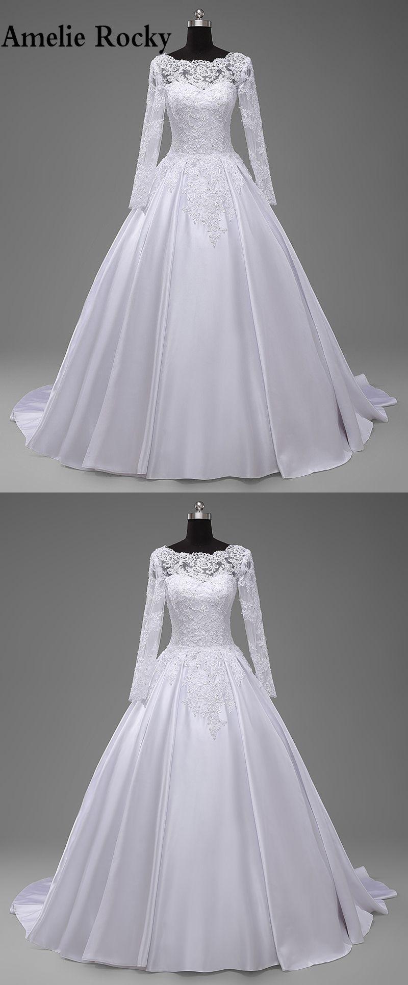 Robe de mariage real china long sleeve wedding dresses
