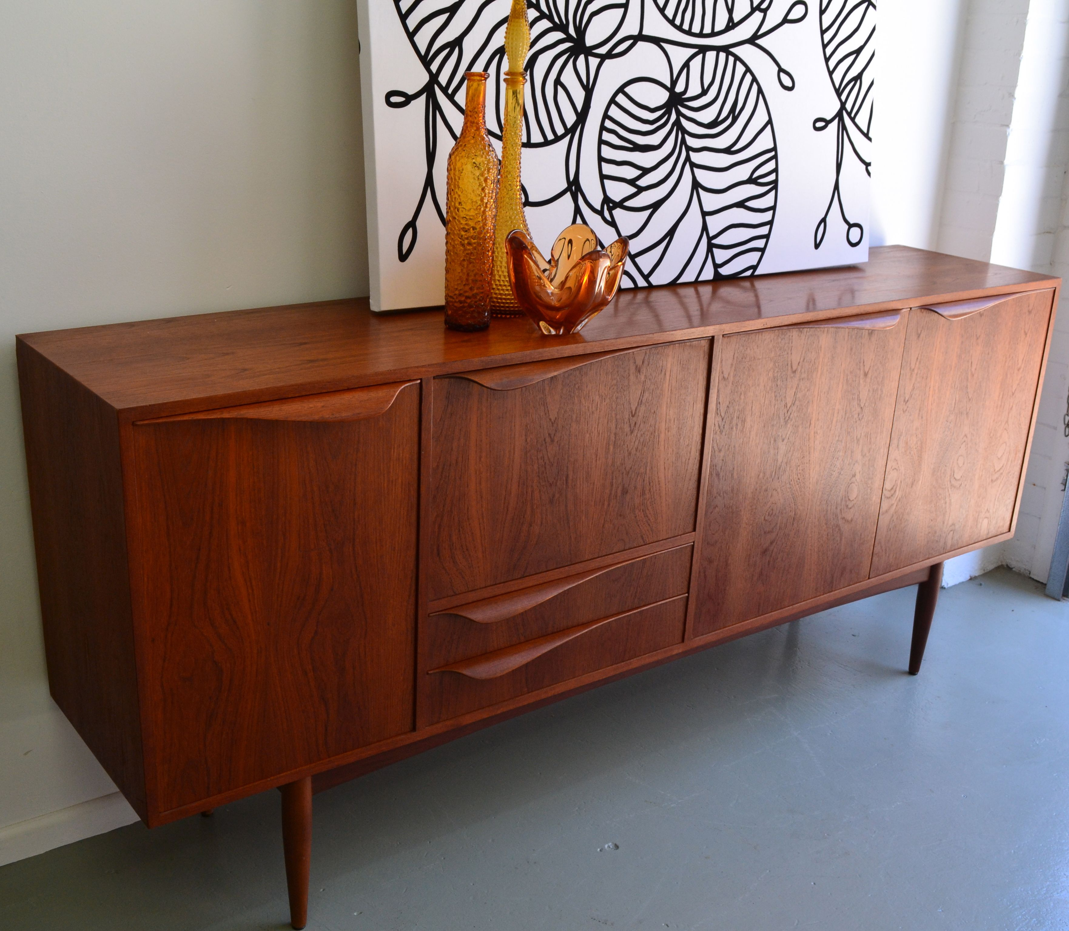 60s Style Couches Danish Style Teak 60 39s Sideboard Refurbished By Www