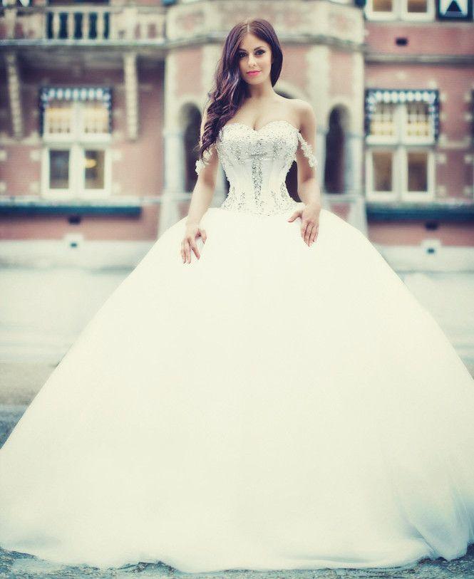 Vestidos De Novia Sweetheart Sleeveless Ball Gown Wedding Dress 2016 ...