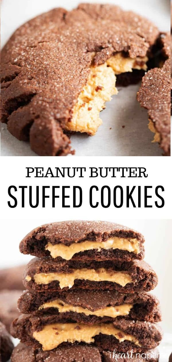 Peanut Butter Stuffed Chocolate Cookies - I Heart Naptime
