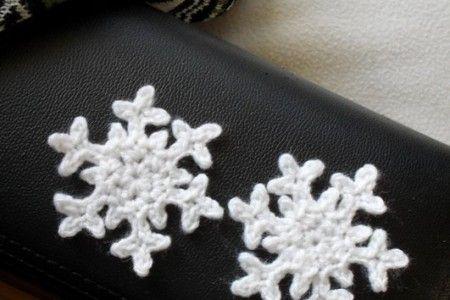 virkade snöflingor mönster