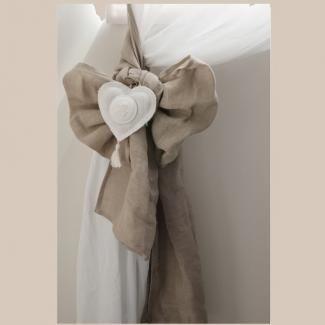 Embrasse Lin Rideau Coeur Mathilde M Déco de Charme | ~Love it ...