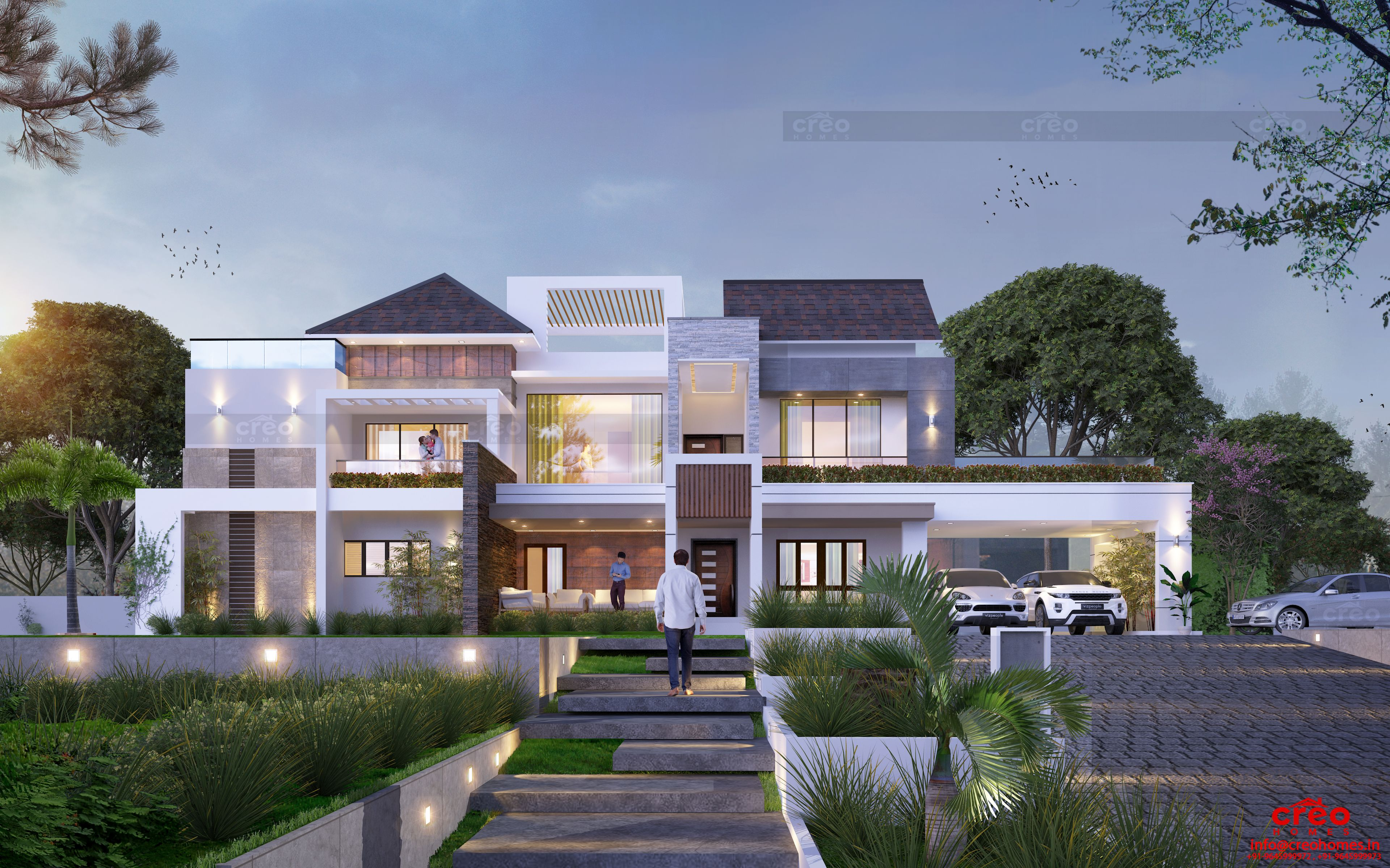 Creo Homes The Best Interior Designers In Kochi Has Been Recognized Nationwide For Its Ex House Architecture Design House Front Design House Designs Exterior