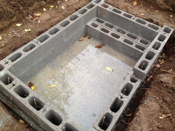 DIY Concrete Block Soaking Pool - In Progress, Advice Welcome!