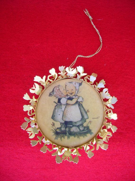 Vintage Hummel Christmas Ornaments Set of 4 by TillyFritz on Etsy, $35.00