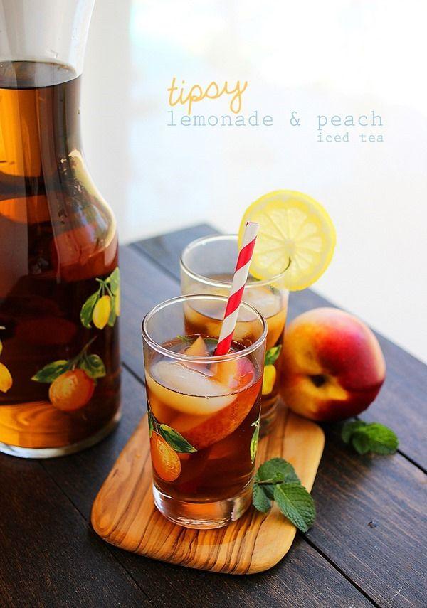 Tipsy Lemonade Peach Iced Tea