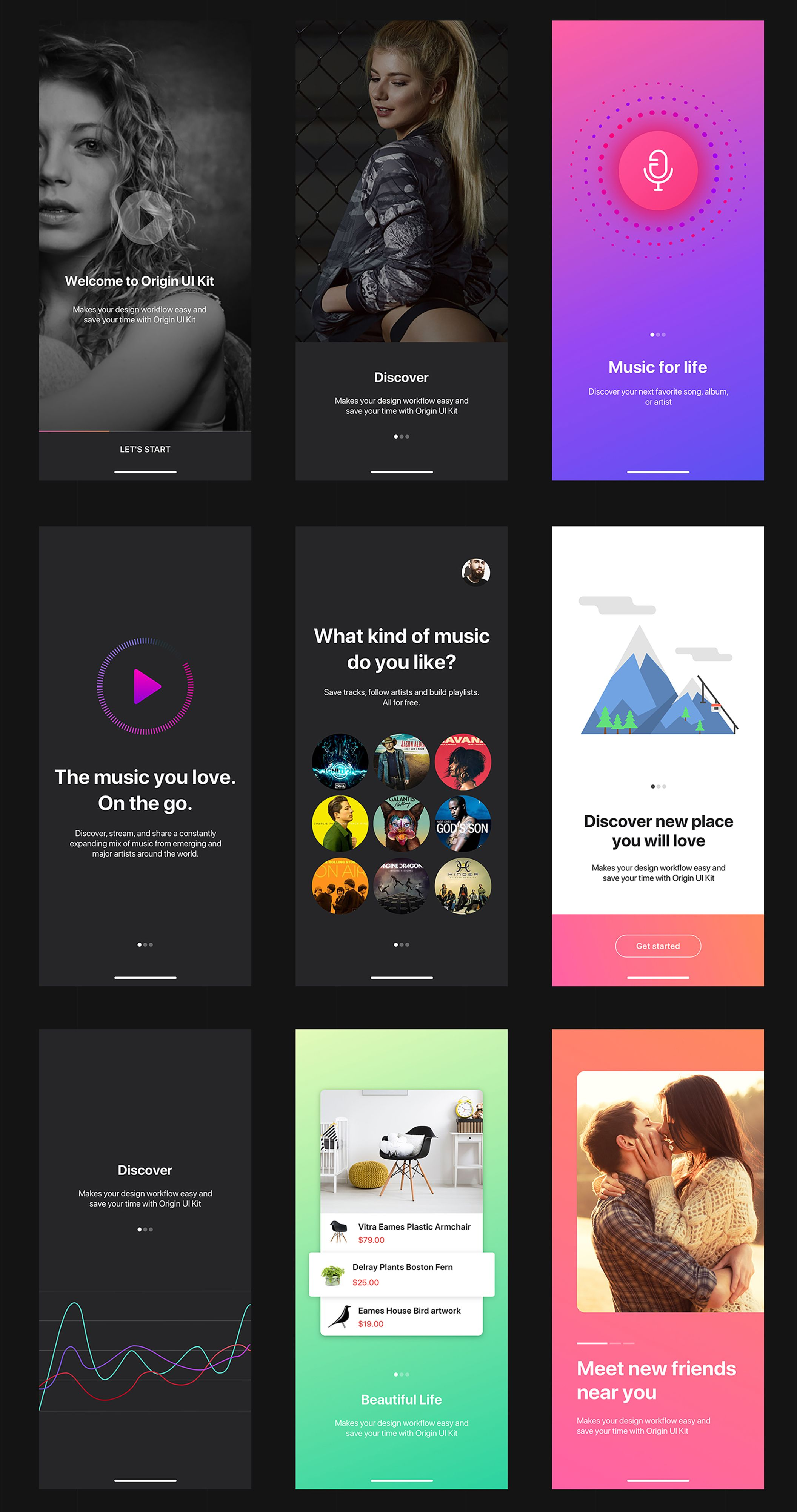 Mobile UI Design. iOS and Android Layout Inspiration. Mobile Website ...