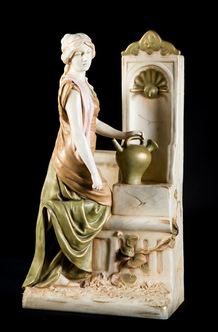 Royal Dux woman at the well.