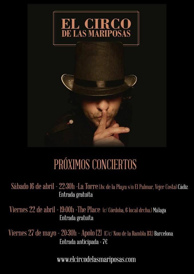 """awesome """"El Circo de las Mariposas"""" am Samstag, 16.04.16 im La Torre in El Palmar"""