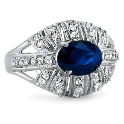 The Mikka Ring from Brilliant Earth...  Again, not my idea of an engagement ring, but very pretty!