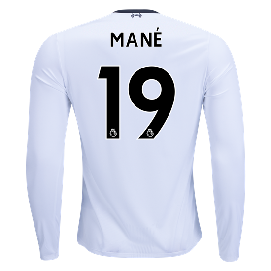 half off d28c4 ebe60 17/18 New Balance Liverpool Sadio Mane #19 Long Sleeve Away ...