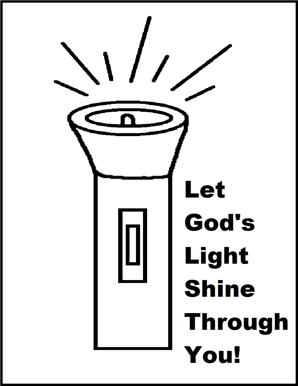 Let Your Light Shine Coloring Page Let Your Light Shine Bible
